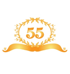 55th anniversary banner vector image