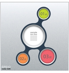 Metaball infographic elements in flat design vector image
