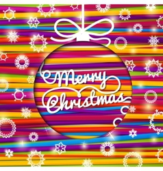 Merry christmas greeting card made from bundle of vector