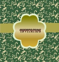 Green floral pattern vintage floral background vector