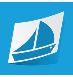 Sailing ship sticker vector
