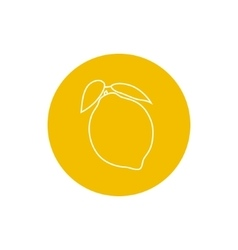 Icon lemon in the contours vector