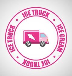 ice truck vector image
