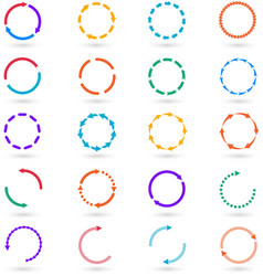 Circle arrows infographic elements set vector