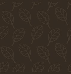 Brown leaf seamless pattern pr vector