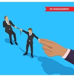 Battle for employee vector image