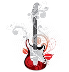 guitar graphic vector image