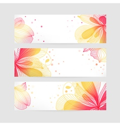 Set floral banners vector