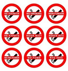 Stickers set  symbols no smoking area vector