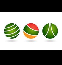 Abstract circle icon logo set template design vector