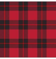 Red tartan plaid vector image