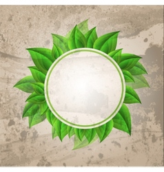 Abstract Nature Green Background vector image vector image
