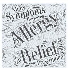 Allergy relief your relief options reviewed word vector