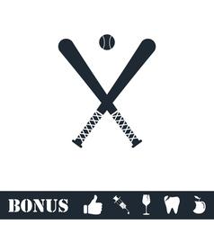 Baseball icon flat vector image vector image