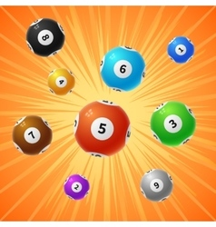 Bingo lottery balls 3d gambling background vector image