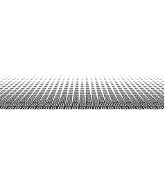 black abstract halftone background with square vector image