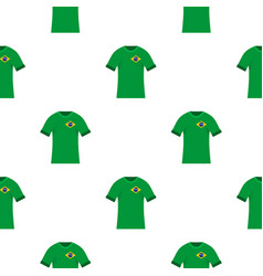 Brazilian soccer shirt pattern seamless vector