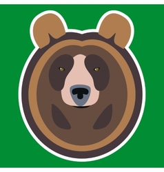 Brown bear head vector