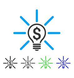Business idea bulb flat icon vector
