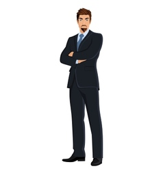 Business man isolated on white vector image
