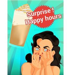 coffee splash vector image