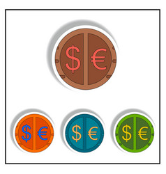 Currency stock market sign vector
