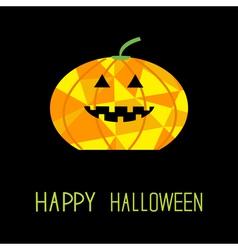 Cute funny pumpkin halloween card kids polygonal vector