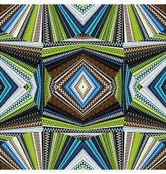 Ethnic background abstract kaleidoscope vector image vector image