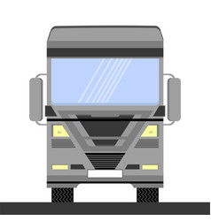 grey container truck icon on white background vector image