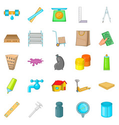 Home repair icons set cartoon style vector