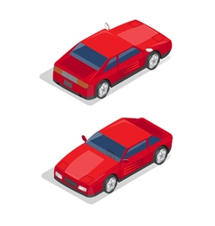 Isometric transportation sport car isometric car vector