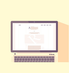laptop with internet blog on screen vector image vector image