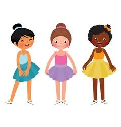 Little girls different ethnic dancer vector
