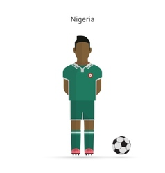 National football player nigeria soccer team vector