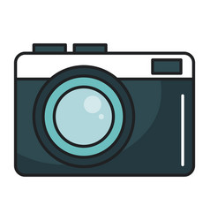 photographic camera isolated icon vector image