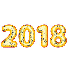 poppy bagel 2018 lettering vector image