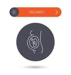 Pregnancy icon Medical genecology sign vector image vector image