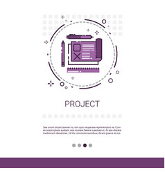 Project development startup banner with copy space vector