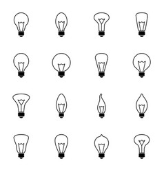 set of bulb icons vector image vector image