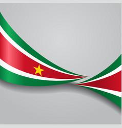 surinamese wavy flag vector image