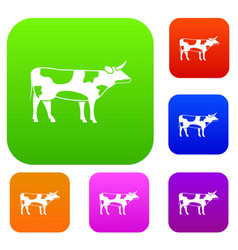Switzerland cow set collection vector