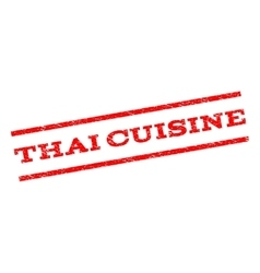 Thai cuisine watermark stamp vector