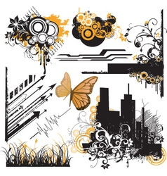 urban design elements vector image