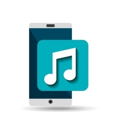 white smartphone music network digital vector image vector image