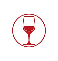 Winery theme classic wine goblet isolated on white vector