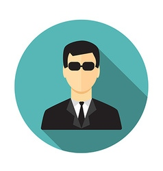 Secret service agent vector