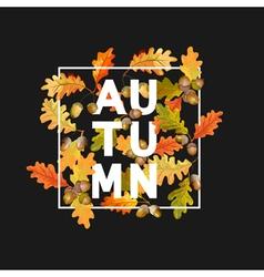 Autumn Leaves Background Floral Banner Design vector image