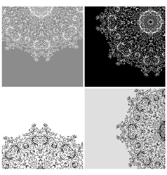 Set of arabesque backgrounds for your design vector image