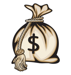 Dollar money bag vector