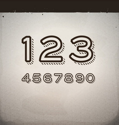 Stylish retro numbers vector